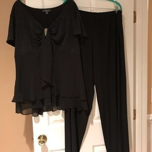 R&M Richards 2 piece dressy pant set size 24W